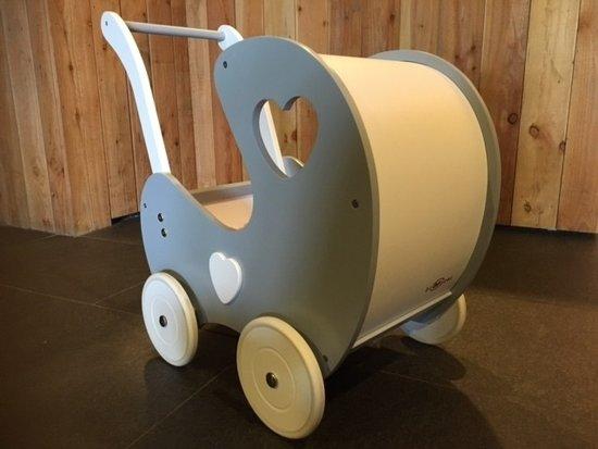 Broozzer houten poppenwagen Retro - grijs