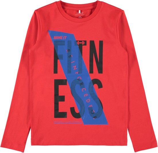 Name it Jongens T-shirt - FlameScarlet - Maat 104