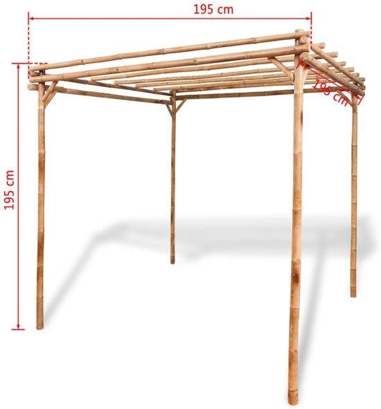 Bamboo Rozenboog (INCL tuinhandschoenen) Pergola Tuin / Boog Klimplanten / Rozen Boog Bamboo / Boog voor Planten en Rozen