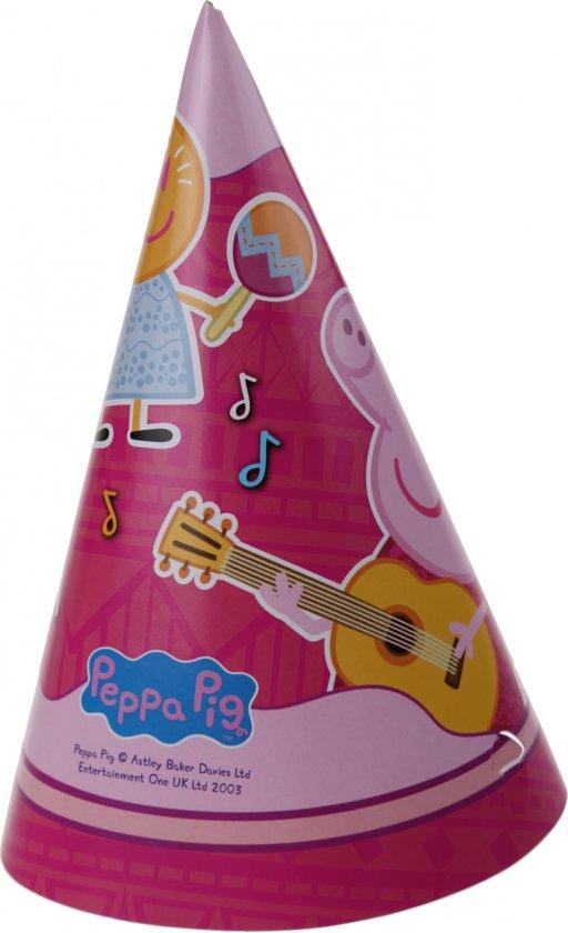 Peppa Pig Feesthoedjes Roze 6 Stuks Valentinaa