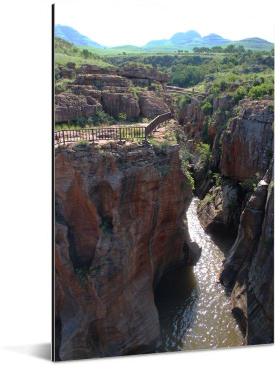 Bourke's Luck Potholes bij de Blyde River Canyon in Afrika Aluminium 40x60 cm - Foto print op Aluminium (metaal wanddecoratie)