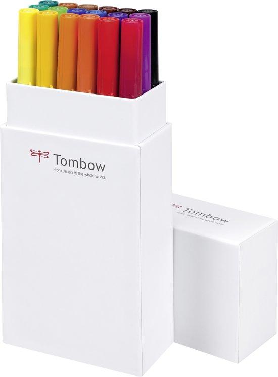 Tombow ABT Dual-Brush tekenpennen - Primaire kleuren - Set van 18