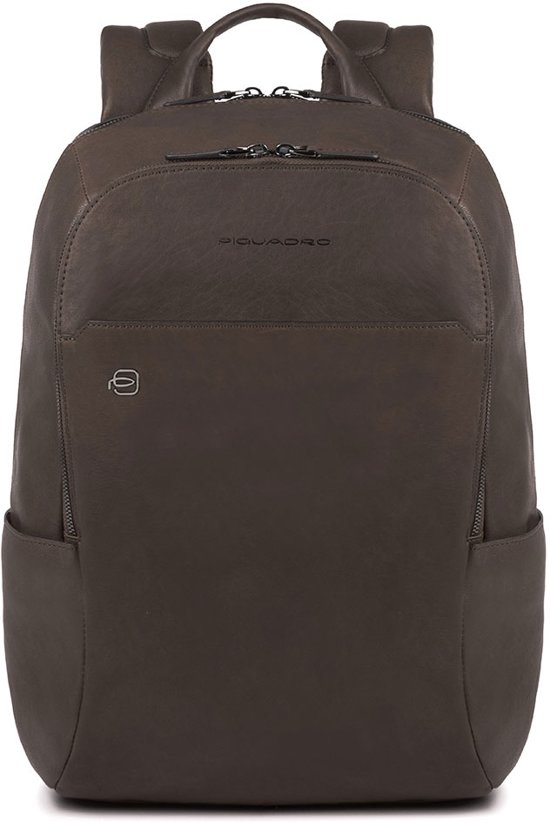 Piquadro Square Dark Backpack Black Brown RfxwqrgnRO