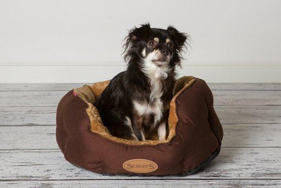Scruffs Cashmere - Donut Hondenbed - M - Chocolade Bruin