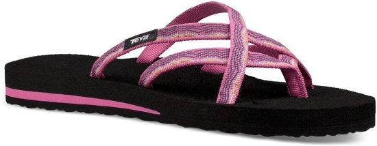 b1903a2c0eb73 Teva Olowahu Slippers dames Slippers - Maat 39 - Vrouwen - zwart roze