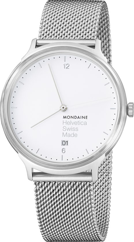 Mondaine Light MH1.L2210.SM Horloge - Edelstaal - Zilverkleurig - Ø38 mm