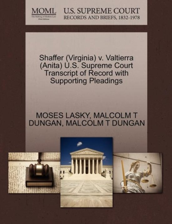 Shaffer (Virginia) V. Valtierra (Anita) U.S. Supreme Court Transcript of Record with Supporting Pleadings