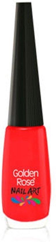 Nagellak pen / nagellak striper ROOD 117 van Golden Rose.