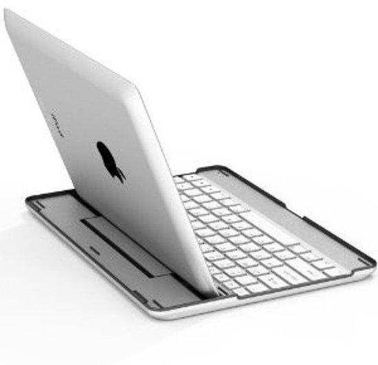 Tablet2you Apple iPad Air toetsenbord in aluminium Hoes met wit toetsenbord
