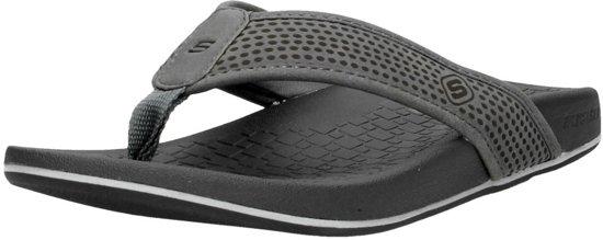Skechers Pelem-Emiro grijs slippers heren