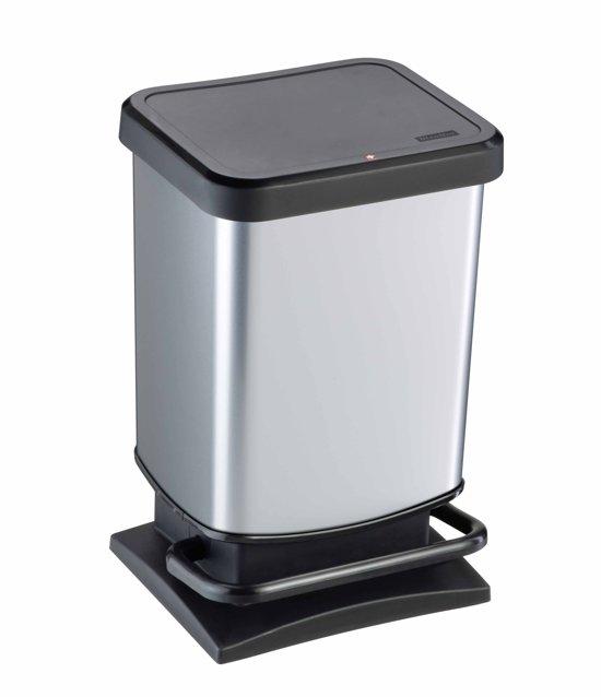 Paso Pedaalemmer 20 Liter.Rotho Paso Prullenbak 20 L Rvs Zilver Metallic