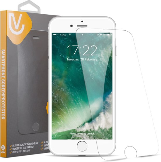 iPhone 7 Plus / 8 Plus Screenprotector Tempered Glass