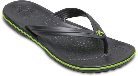 Crocs Crocband Flip slippers Slippers - Maat 46/47 - Unisex - grijs/groen