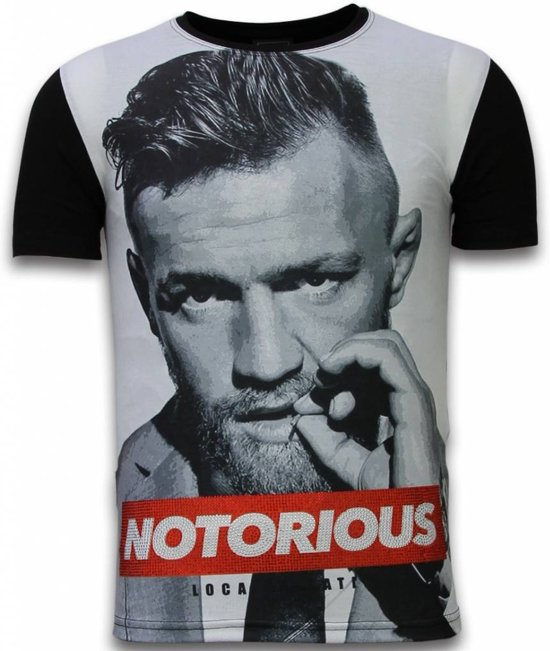 a45349ccd97416 Local Fanatic McGregor Notorious - Digital Rhinestone T-shirt - Zwart -  Maten  M