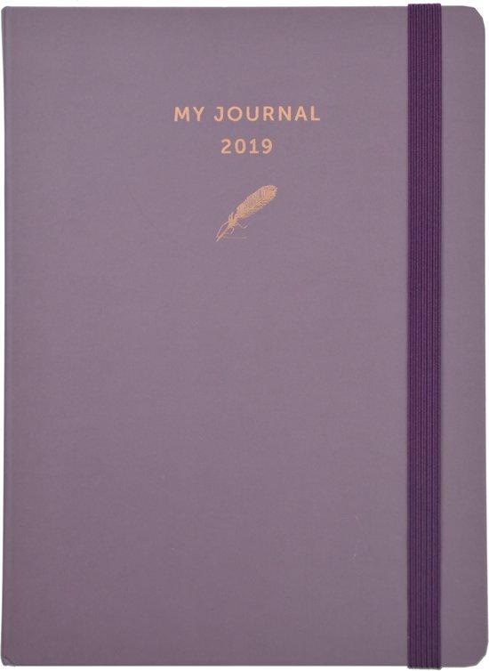 My Journal agenda 2019 - Paars