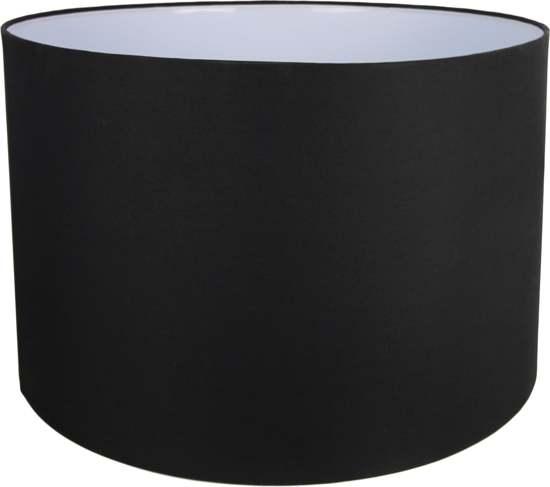 HSM Collection - Lampenkap rond voor tafellamp Nature - zwart - linnen
