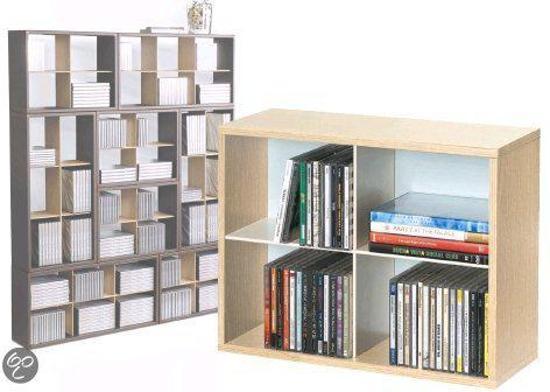 Iets Nieuws bol.com | CD/DVD Rek Media-Cube klein, stapelbaar @JZ35