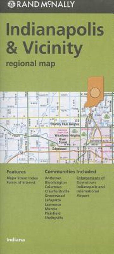 Rand McNally Indianapolis & Vicinity, Indiana Regional Map