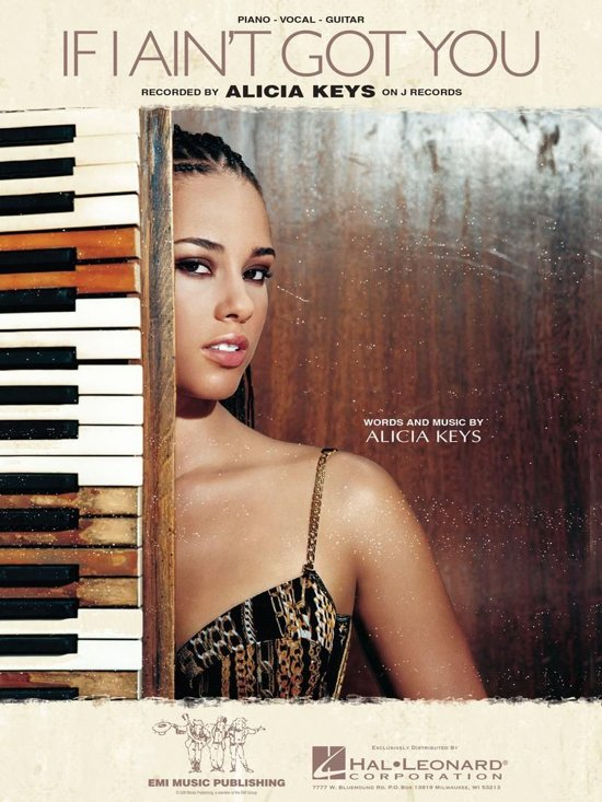 Bol If I Aint Got You Sheet Music Ebook Alicia Keys