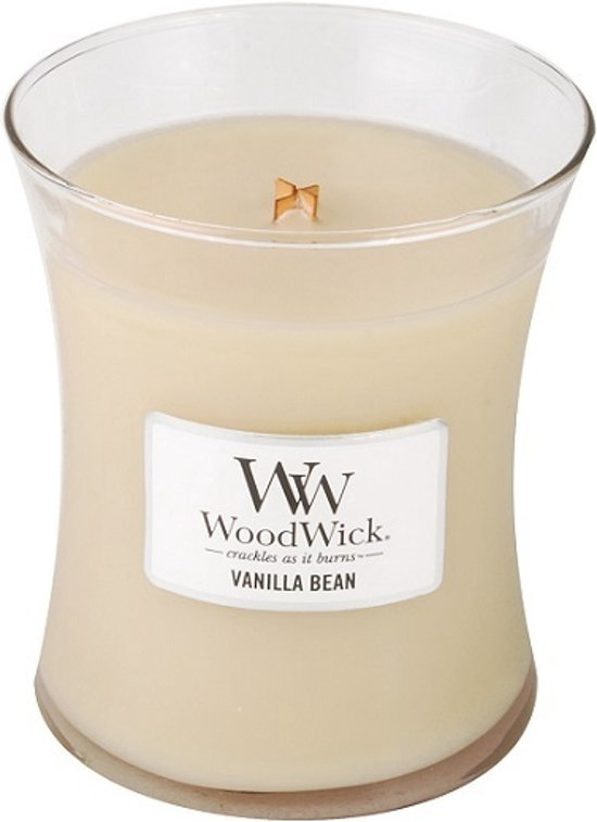 Woodwick geurkaars Vanilla Bean Medium