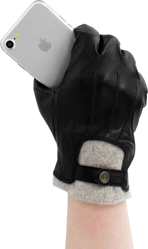 Lederen handschoenen heren gevoerd