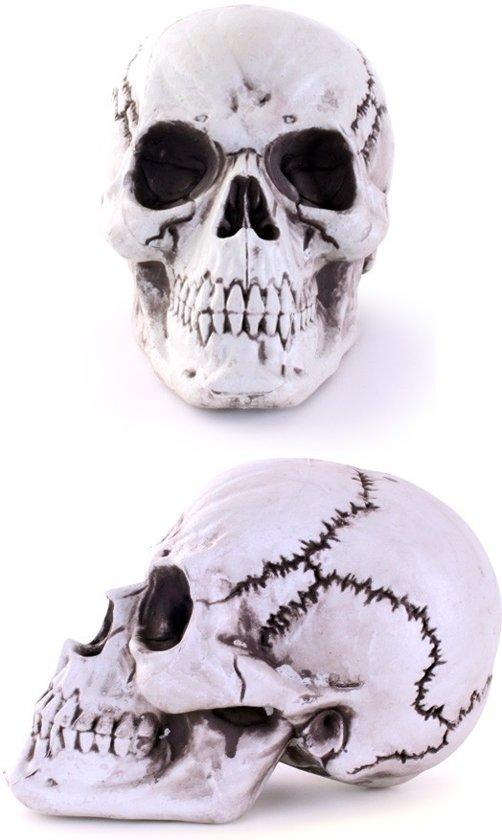 Skelethoofd aan hanger 18 x 27 cm