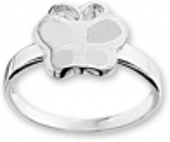 Tomylo -Zilveren kinderring met witte vlinder - maat 41 - 1016234