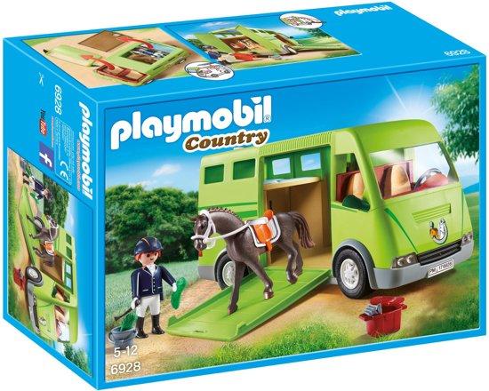 PLAYMOBIL Paardenvrachtwagen  - 6928