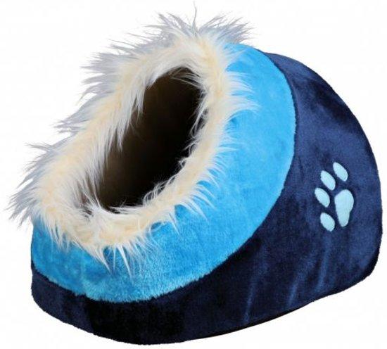Trixie kattenmand iglo minou donkerblauw / blauw 35x26x41 cm