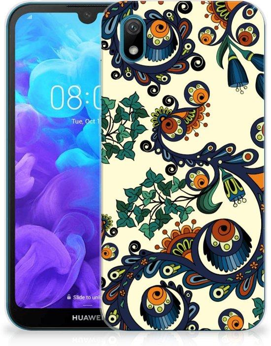 Huawei Y5 (2019) Siliconen Hoesje Barok Flower