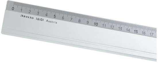 Aristo aluminium liniaal - 100 cm