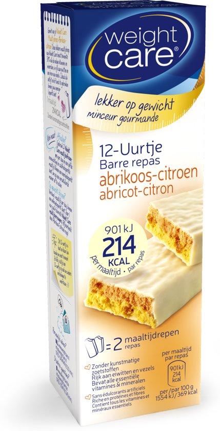 Weight Care Maaltijdreep 12-Uurtje Abrikoos Citroen - 2 stuks