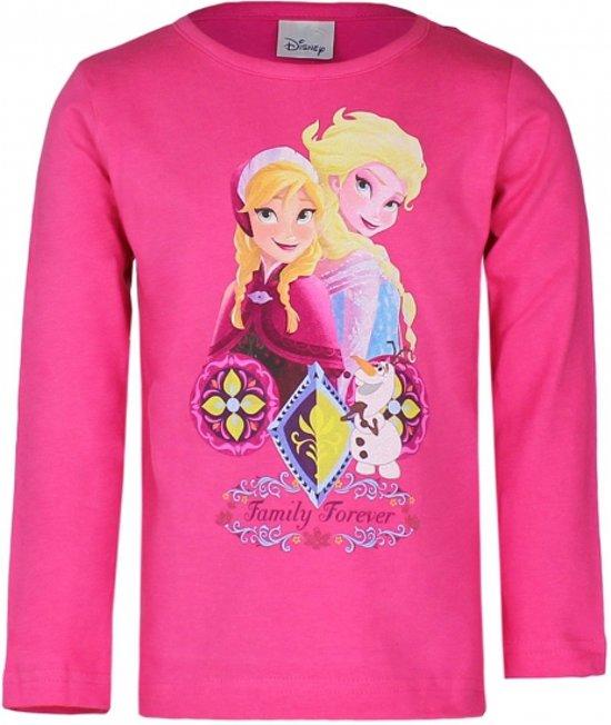 Frozen t-shirt fuchsia 104