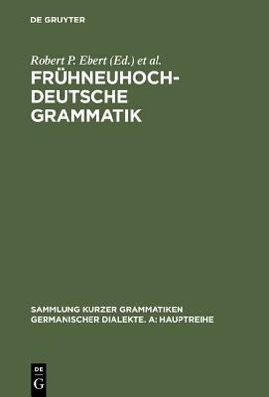 Fr hneuhochdeutsche Grammatik
