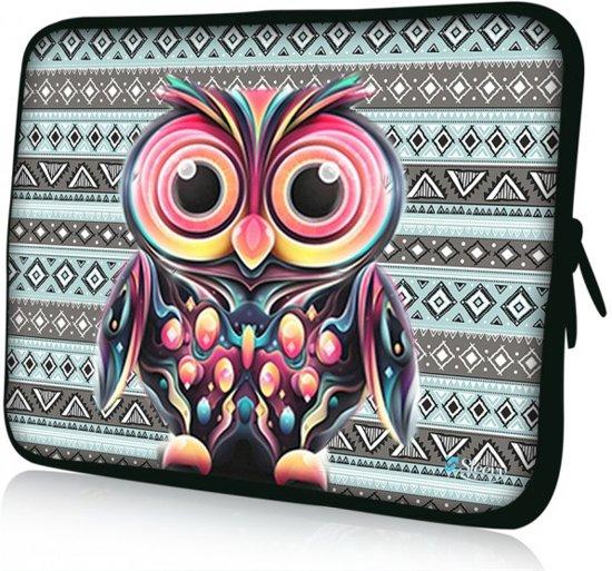 7a77e7bfc89 Sleevy 17,3 laptophoes kleurrijke uil - Laptop sleeve - Macbook hoes -  beschermhoes