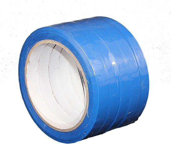 5 rollen - PP tape blauw - 12mm x 66mtr