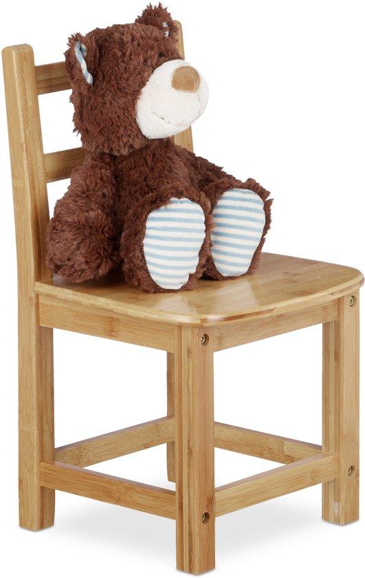 Hoge Stoel Voor Peuter.Relaxdays Kinderstoel Bamboe Stoel Voor Kinderen Stoeltje Zonder Armleuning