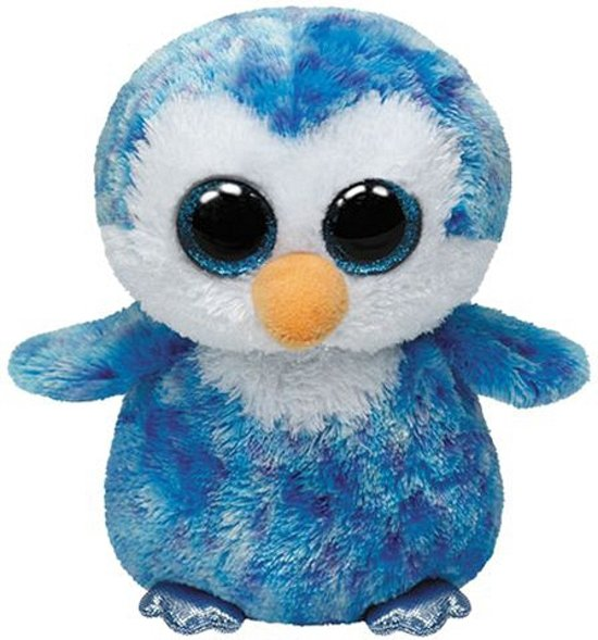 069cea12363 Blauwe Ty Beanie pinguin knuffel 15 cm