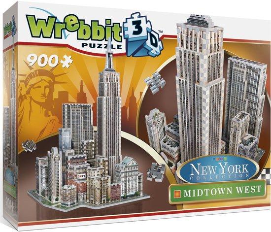 Wrebbit 3D Puzzel - New York Midtown West - 900 stukjes