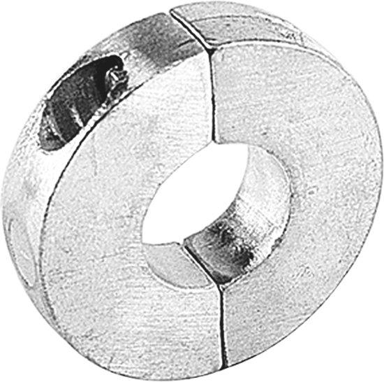 Talamex platte aluminium Schroefas Anode voor as Ø25 mm