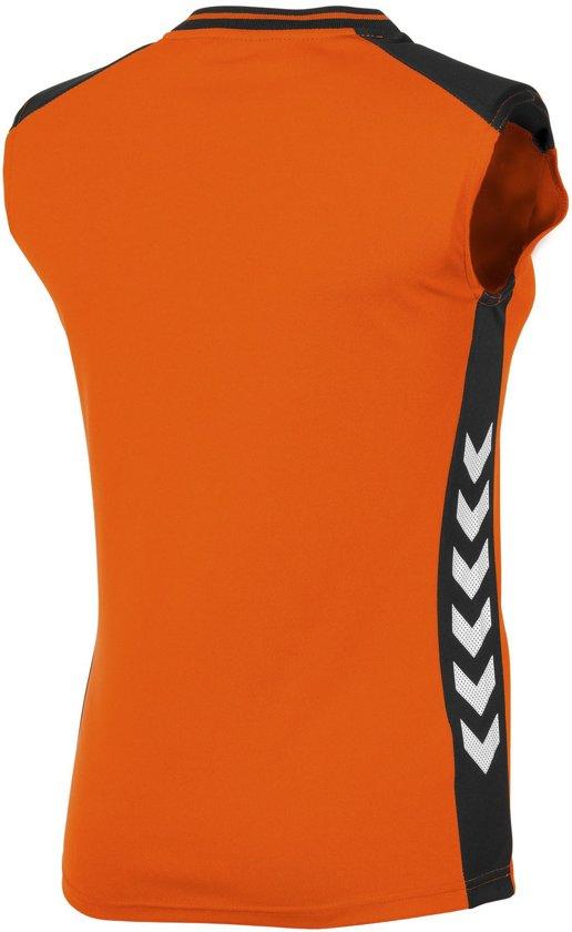 Sleeveless Sportshirt Lyon Hummel Oranje Vrouwen PerformanceMaat L zwart wOkuZiTPX