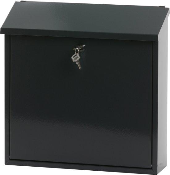 Stalen brievenbus antraciet - 11,5x37x37 cm