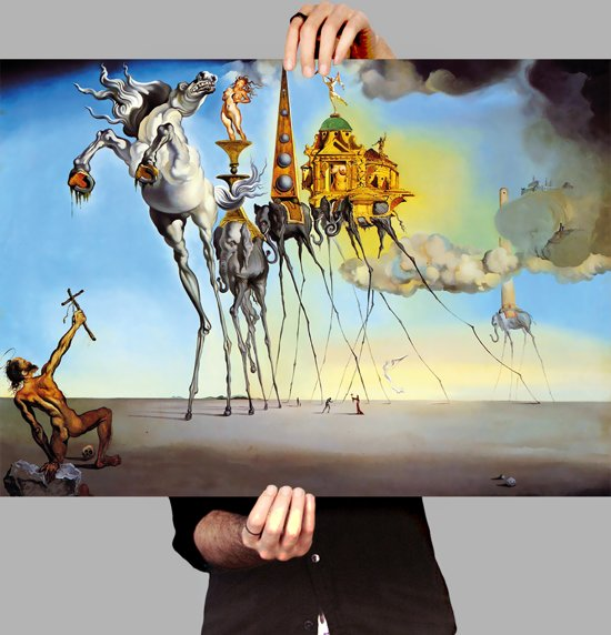 bol | poster salvador dali - the temptation of st. anthony