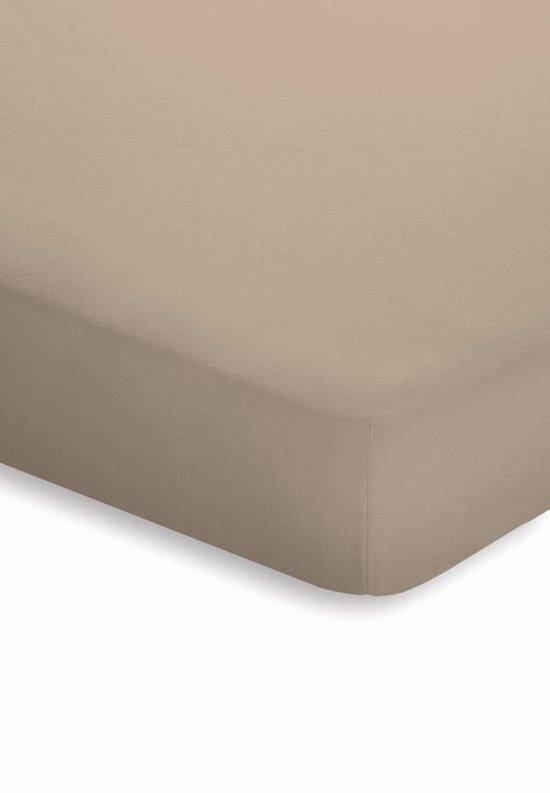 Schlafgut - Stretch - Jersey - Topper Hoeslaken - Lits-jumeaux - 180/200x200/220 cm - Taupe
