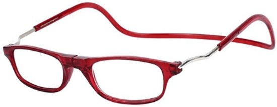 Magnetische leesbril - rood - sterkte +1,5