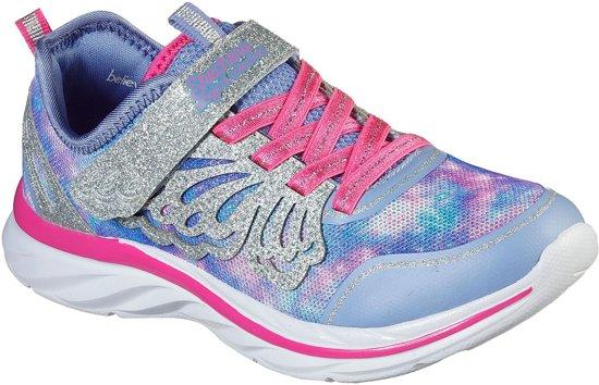 Skechers Quick Kicks Fairy Glitz Sneakers Maat 34 Meisjes paarszilverroze
