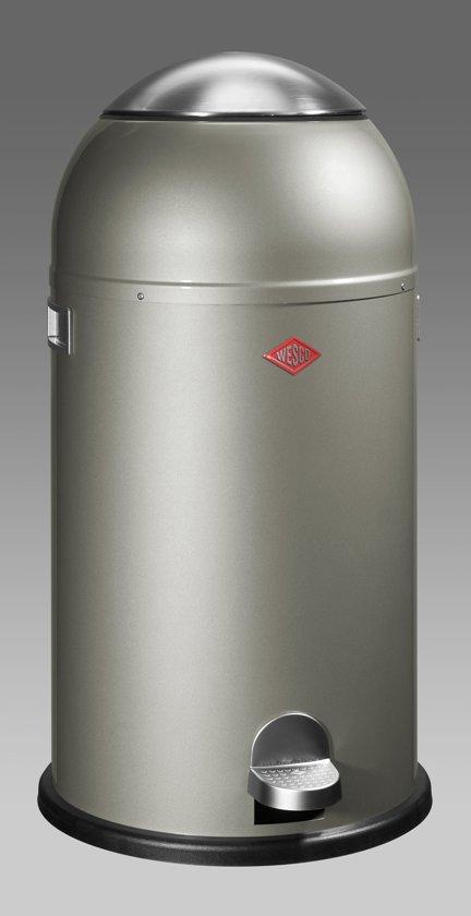 Wesco Liftmaster 40 Liter Rood.Wesco Liftmaster Pedaalemmer 40 L Nieuw Zilver