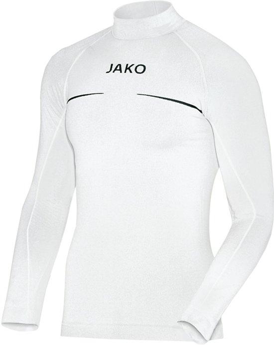 Jako Turtleneck Comfort  Sportshirt performance - Maat XXL  - Mannen - wit