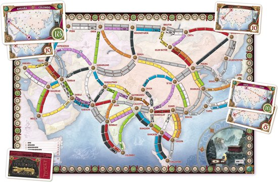Ticket to Ride Asia - Bordspel - Uitbreiding