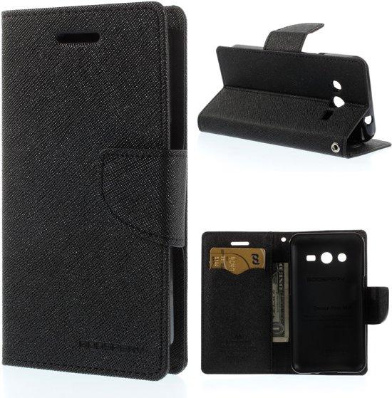 Samsung Galaxy Core 2 G355H Wallet Hoesje Zwart in Heiakker